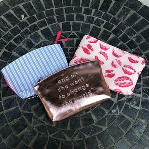 Ipsy Set of 3 Makeup Bags